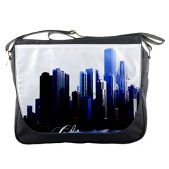Abstract Of Downtown Chicago Effects Messenger Bags