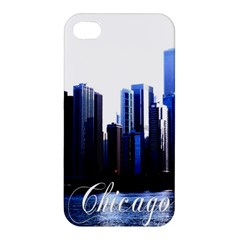 Abstract Of Downtown Chicago Effects Apple iPhone 4/4S Premium Hardshell Case