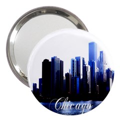 Abstract Of Downtown Chicago Effects 3  Handbag Mirrors