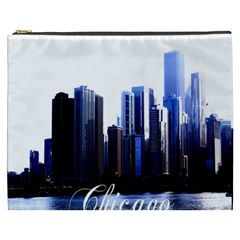Abstract Of Downtown Chicago Effects Cosmetic Bag (XXXL)