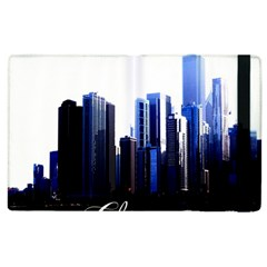 Abstract Of Downtown Chicago Effects Apple iPad 3/4 Flip Case