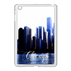 Abstract Of Downtown Chicago Effects Apple iPad Mini Case (White)