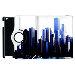 Abstract Of Downtown Chicago Effects Apple iPad 3/4 Flip 360 Case