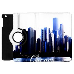 Abstract Of Downtown Chicago Effects Apple iPad Mini Flip 360 Case
