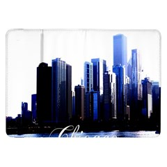 Abstract Of Downtown Chicago Effects Samsung Galaxy Tab 8.9  P7300 Flip Case