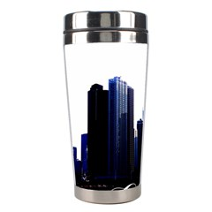 Abstract Of Downtown Chicago Effects Stainless Steel Travel Tumblers