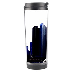 Abstract Of Downtown Chicago Effects Travel Tumbler