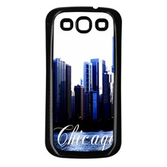 Abstract Of Downtown Chicago Effects Samsung Galaxy S3 Back Case (Black)