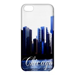Abstract Of Downtown Chicago Effects Apple iPhone 5C Hardshell Case