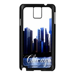 Abstract Of Downtown Chicago Effects Samsung Galaxy Note 3 N9005 Case (black)