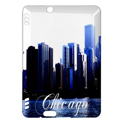 Abstract Of Downtown Chicago Effects Kindle Fire Hdx Hardshell Case