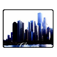 Abstract Of Downtown Chicago Effects Double Sided Fleece Blanket (Small)