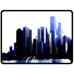 Abstract Of Downtown Chicago Effects Double Sided Fleece Blanket (Large)