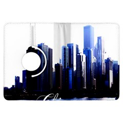 Abstract Of Downtown Chicago Effects Kindle Fire Hdx Flip 360 Case