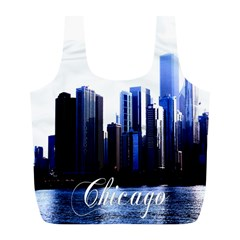 Abstract Of Downtown Chicago Effects Full Print Recycle Bags (L)