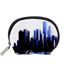 Abstract Of Downtown Chicago Effects Accessory Pouches (Small)