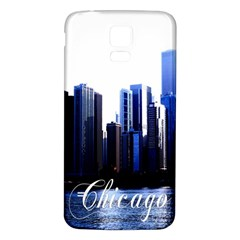 Abstract Of Downtown Chicago Effects Samsung Galaxy S5 Back Case (White)