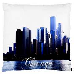 Abstract Of Downtown Chicago Effects Large Flano Cushion Case (two Sides)