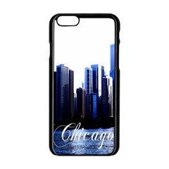 Abstract Of Downtown Chicago Effects Apple Iphone 6/6s Black Enamel Case