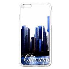 Abstract Of Downtown Chicago Effects Apple iPhone 6 Plus/6S Plus Enamel White Case