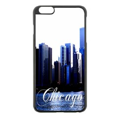 Abstract Of Downtown Chicago Effects Apple iPhone 6 Plus/6S Plus Black Enamel Case
