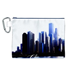 Abstract Of Downtown Chicago Effects Canvas Cosmetic Bag (L)