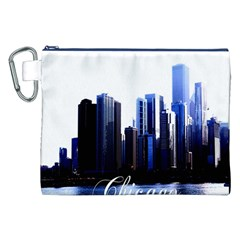 Abstract Of Downtown Chicago Effects Canvas Cosmetic Bag (xxl)