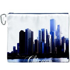 Abstract Of Downtown Chicago Effects Canvas Cosmetic Bag (XXXL)