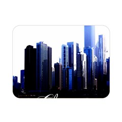Abstract Of Downtown Chicago Effects Double Sided Flano Blanket (Mini)