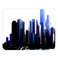 Abstract Of Downtown Chicago Effects Double Sided Flano Blanket (Large)