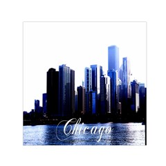 Abstract Of Downtown Chicago Effects Small Satin Scarf (square)