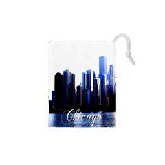Abstract Of Downtown Chicago Effects Drawstring Pouches (xs)