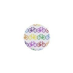 Rainbow Colors Bright Colorful Bicycles Wallpaper Background 1  Mini Magnets
