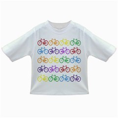 Rainbow Colors Bright Colorful Bicycles Wallpaper Background Infant/toddler T Shirts