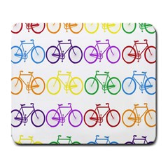 Rainbow Colors Bright Colorful Bicycles Wallpaper Background Large Mousepads