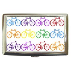 Rainbow Colors Bright Colorful Bicycles Wallpaper Background Cigarette Money Cases