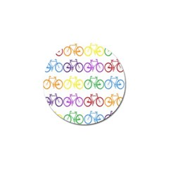 Rainbow Colors Bright Colorful Bicycles Wallpaper Background Golf Ball Marker (10 Pack)