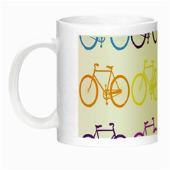Rainbow Colors Bright Colorful Bicycles Wallpaper Background Night Luminous Mugs