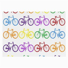 Rainbow Colors Bright Colorful Bicycles Wallpaper Background Large Glasses Cloth (2 Side)
