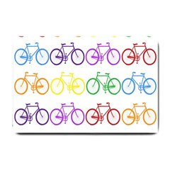 Rainbow Colors Bright Colorful Bicycles Wallpaper Background Small Doormat