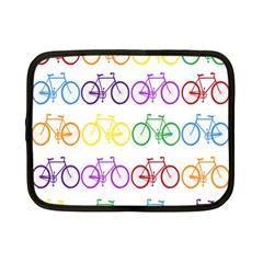 Rainbow Colors Bright Colorful Bicycles Wallpaper Background Netbook Case (small)