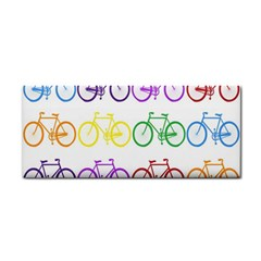 Rainbow Colors Bright Colorful Bicycles Wallpaper Background Cosmetic Storage Cases