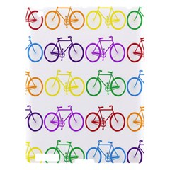 Rainbow Colors Bright Colorful Bicycles Wallpaper Background Apple Ipad 3/4 Hardshell Case