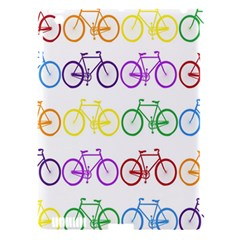 Rainbow Colors Bright Colorful Bicycles Wallpaper Background Apple iPad 3/4 Hardshell Case (Compatible with Smart Cover)