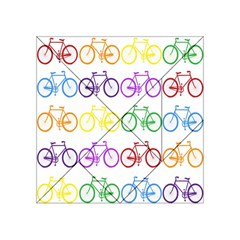 Rainbow Colors Bright Colorful Bicycles Wallpaper Background Acrylic Tangram Puzzle (4  x 4 )
