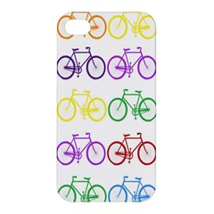 Rainbow Colors Bright Colorful Bicycles Wallpaper Background Apple iPhone 4/4S Premium Hardshell Case