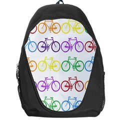 Rainbow Colors Bright Colorful Bicycles Wallpaper Background Backpack Bag