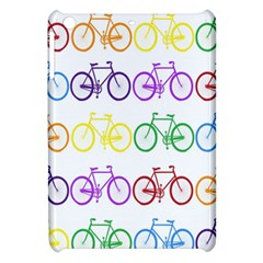 Rainbow Colors Bright Colorful Bicycles Wallpaper Background Apple iPad Mini Hardshell Case