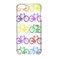 Rainbow Colors Bright Colorful Bicycles Wallpaper Background Apple iPod Touch 5 Hardshell Case with Stand