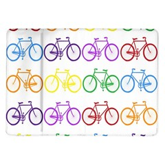 Rainbow Colors Bright Colorful Bicycles Wallpaper Background Samsung Galaxy Tab 10.1  P7500 Flip Case